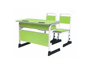 彩色双人课桌椅
